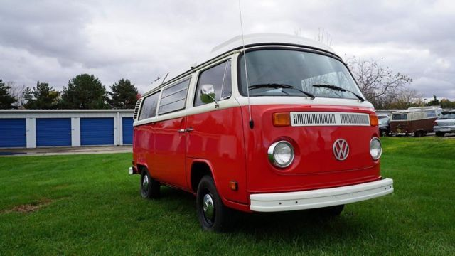 1973 subaru powered vw westy, red, restored, custom,fuel