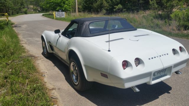 1974 chevy corvette convertible white w black top automatic trans for sale chevrolet corvette. Black Bedroom Furniture Sets. Home Design Ideas