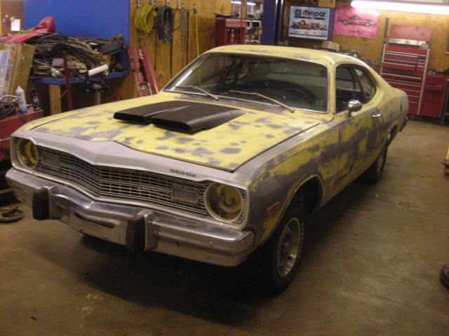 1974 Dodge Dart Sport 360 Factory Hood Scoop Car Yellow