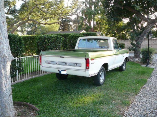 1974 ford f 100 ranger short bed fleet side original paint ca truck good driver for sale ford. Black Bedroom Furniture Sets. Home Design Ideas