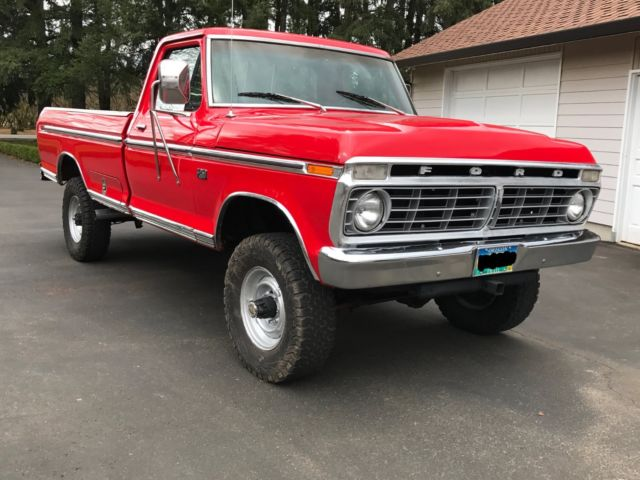 1974 ford f250 4x4 factory highboy 390 4 speed excellent shape for sale ford f 250 custom. Black Bedroom Furniture Sets. Home Design Ideas