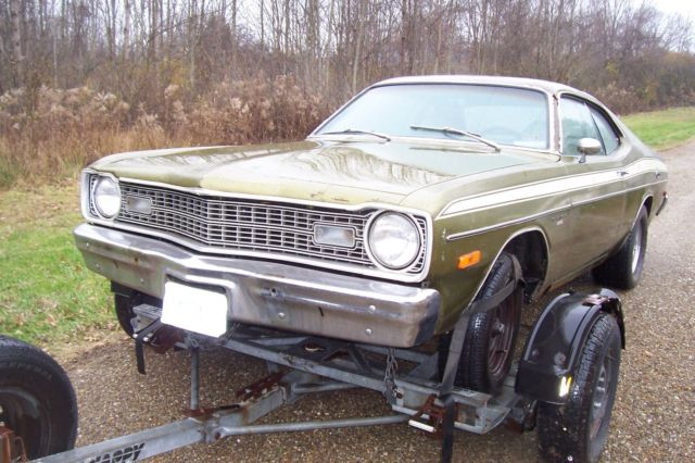1974 l code dodge dart sport 360 avacado green white sport. Black Bedroom Furniture Sets. Home Design Ideas