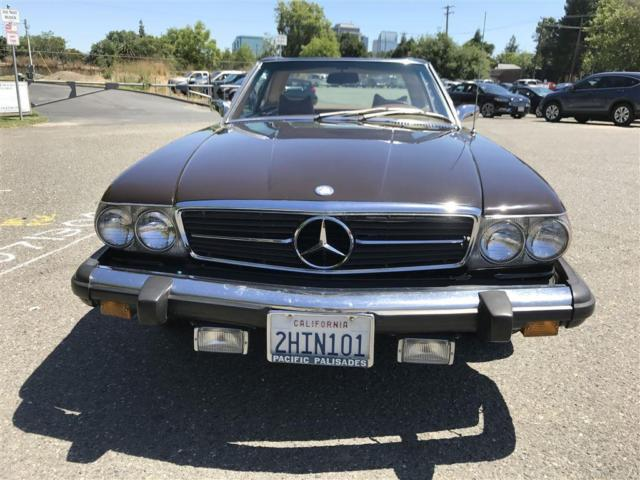 1974 mercedes 450sl convertible 119 523 miles chocolate brown hard soft tops for sale