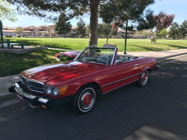 1974 mercedes benz 450 sl runs and drives no reserve for for Mercedes benz red convertible