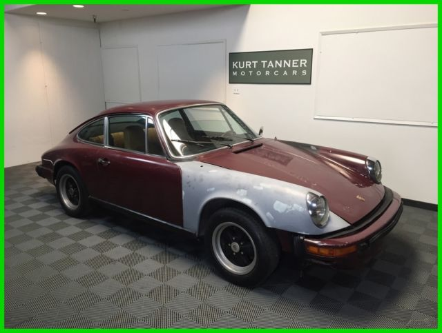 1974 Porsche 911 Coupe Burgundy With Tan Trim