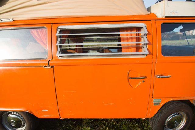 1974 Volkwagen Westfalia Original Orange Bus For Sale