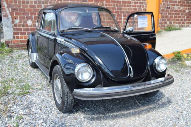 1974 VW Super Beetle Volkswagen A/C Black w/Red Interior for sale - Volkswagen Beetle - Classic ...