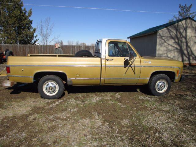 1975 chevrolet chevy c k 20 2500 pickup truck silverado camper special 454 2wd for sale. Black Bedroom Furniture Sets. Home Design Ideas