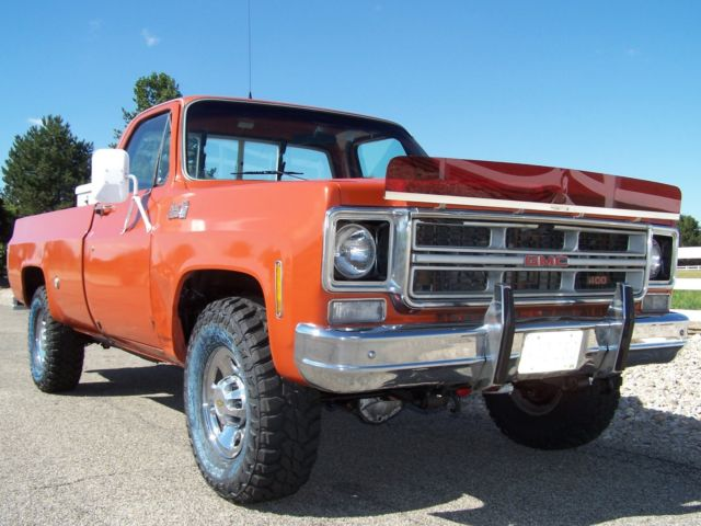 1975 chevy 3 4 ton gmc k20 sierra grande 2500 silverado 4x4 one owner low miles for sale. Black Bedroom Furniture Sets. Home Design Ideas