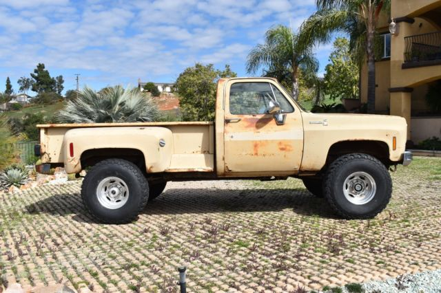 1975 chevy long bed stepside 4x4 pick up lifted truck fun rat rod truck for sale chevrolet. Black Bedroom Furniture Sets. Home Design Ideas