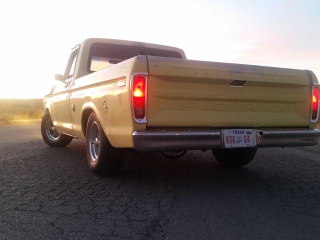 1975 f150 not f100 shop truck barn find restorod lowered suspension for sale ford f 150. Black Bedroom Furniture Sets. Home Design Ideas