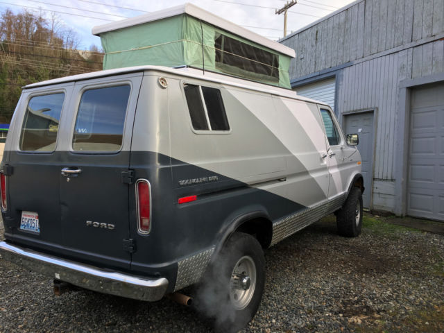 Econoline 4x4 Camper >> 1975 Ford Econoline 4x4 Quadravan Pop top camper for sale - Ford E-Series Van Camper Van 1975 ...