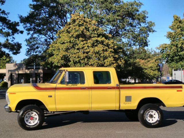 1975 Ford F250 4x4 Crew Cab Highboy Excellent Condition 80K WORLDWIDE RESERVE for sale - Ford F ...