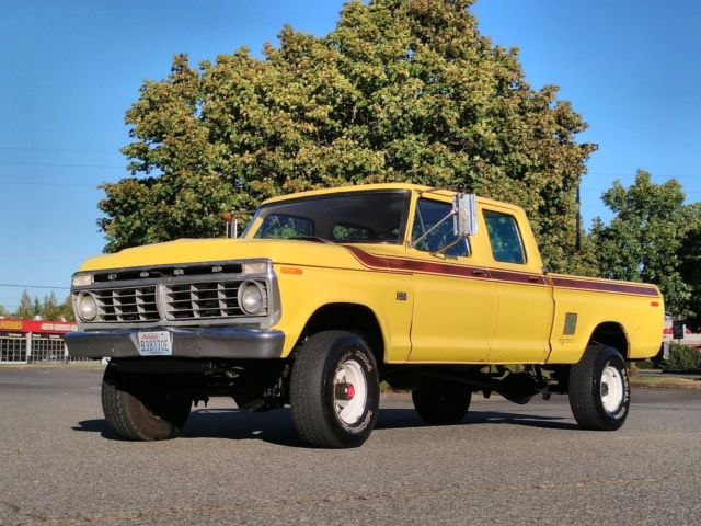 1975 ford f250 4x4 crew cab highboy excellent condition 80k worldwide reserve for sale ford f. Black Bedroom Furniture Sets. Home Design Ideas