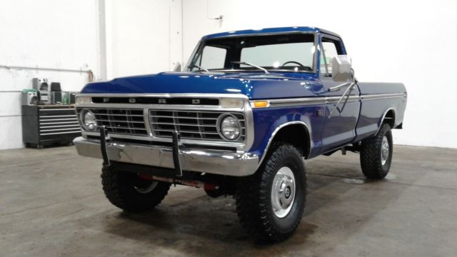 1975 ford f250 custom 4x4 high boy 390 4v at ps pb restored bronco lariat ranger for sale ford. Black Bedroom Furniture Sets. Home Design Ideas