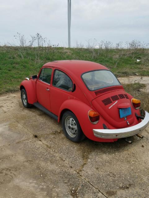 1975 vw red super beetle running boards sunroof engine rebuilt in 99 for sale volkswagen. Black Bedroom Furniture Sets. Home Design Ideas