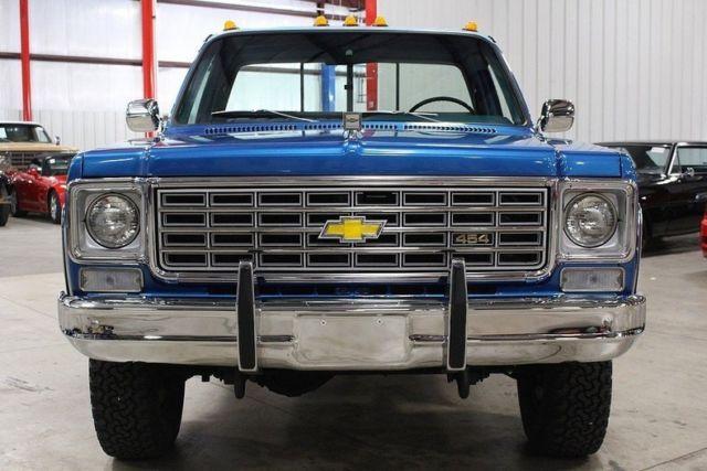 1976 chevrolet k 20 silverado 79278 miles hawaiian blue pickup truck 454 v8 auto for sale. Black Bedroom Furniture Sets. Home Design Ideas