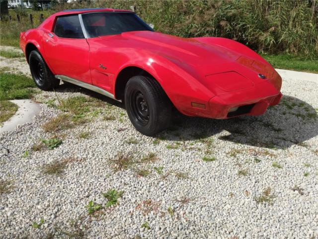 1976 Chevrolet Red With Black C3 Corvette Stingray V8 Automatic Plus Extras For Sale Chevrolet Corvette Stingray 1976 For Sale In Rootstown Ohio United States