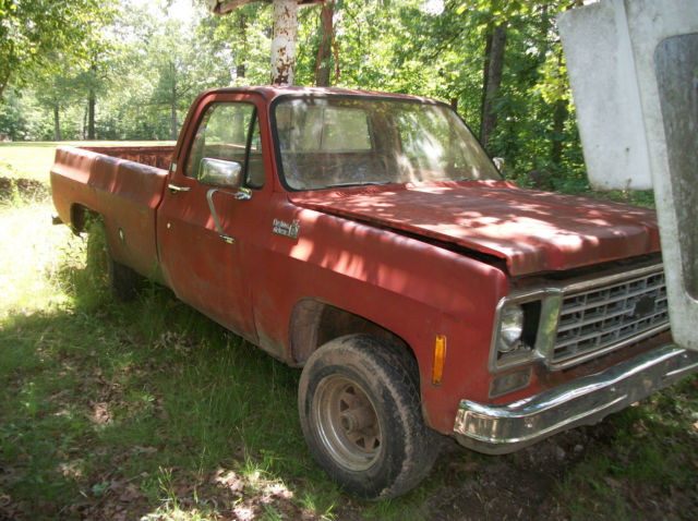 1976 chevy 3 4 ton 4 x 4 pick up bucket truck parts truck chevrolet automatic for sale. Black Bedroom Furniture Sets. Home Design Ideas