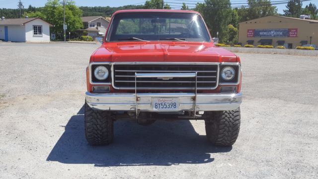 1976 chevy chevrolet truck k10 silverado package short bed 4x4 california c10 for sale. Black Bedroom Furniture Sets. Home Design Ideas