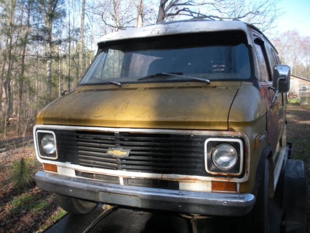 1976 chevy van g20 chevrolet no reserve for sale. Black Bedroom Furniture Sets. Home Design Ideas
