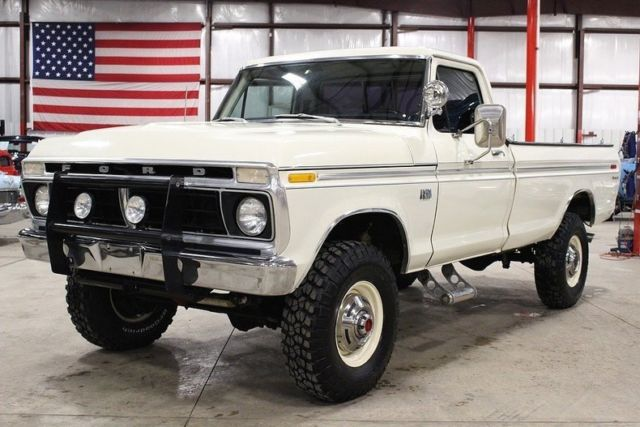 1976 ford f250 88051 miles wimbledon white pickup truck 428ci v8 4 speed manual for sale ford. Black Bedroom Furniture Sets. Home Design Ideas