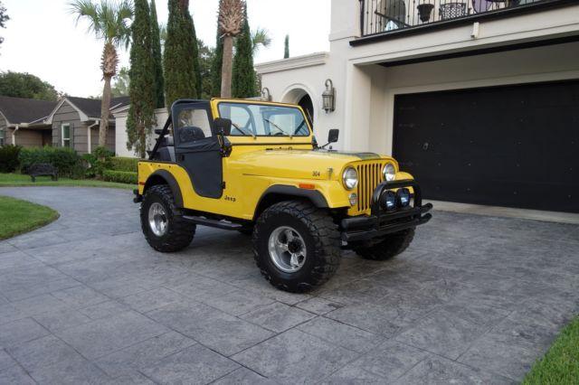 1976 jeep cj5 4x4 restored 304 v8 engine 3 speed manual 33 nitto tires for sale jeep cj. Black Bedroom Furniture Sets. Home Design Ideas