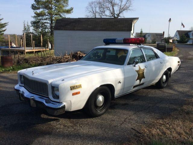 1976 plymouth fury sheriff rosco coltrane dukes of hazzard tribute police car for sale. Black Bedroom Furniture Sets. Home Design Ideas