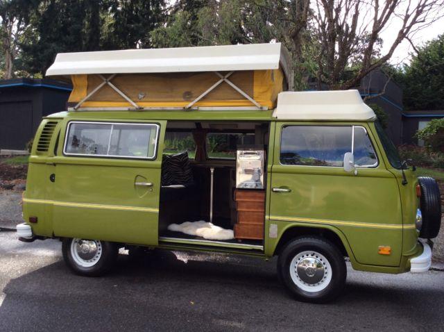 1976 Riviera Camper Bus Vw Van Pop Top Type2 Bay Window Westfalia