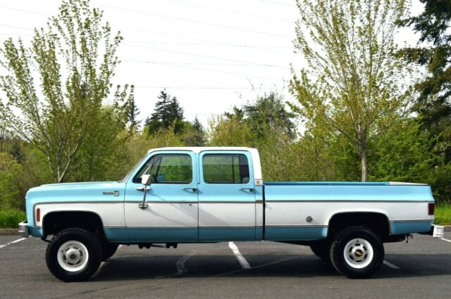 1976 SILVERADO K20 3+3 CREW CAB LONG BED 4X4 350 V8