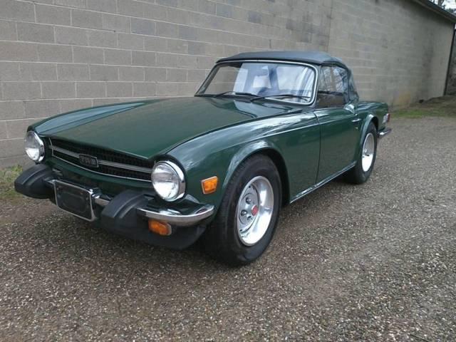 1976 triumph tr6 classic car green clean wv title 63000. Black Bedroom Furniture Sets. Home Design Ideas