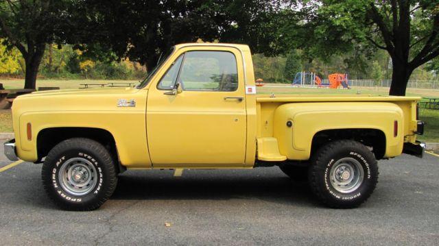 1977 77 75 76 78 chevy k10 4x4 pickup short bed stepside solid west coast truck for sale. Black Bedroom Furniture Sets. Home Design Ideas