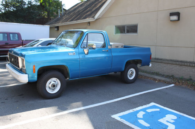 1977 chevrolet 4x4 pick up truck swb new tires tool box good driver condition for sale. Black Bedroom Furniture Sets. Home Design Ideas