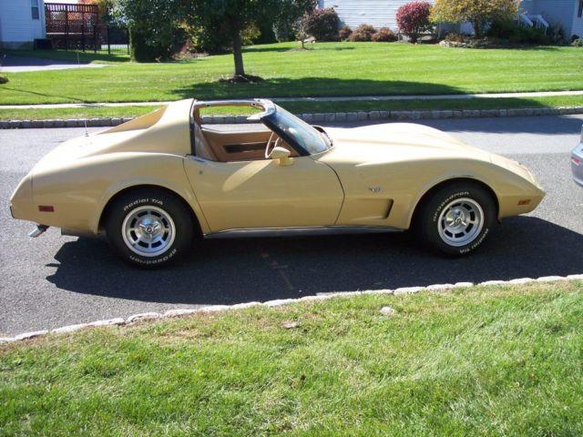 1977 Chevrolet Corvette Beige T Roof for sale Chevrolet