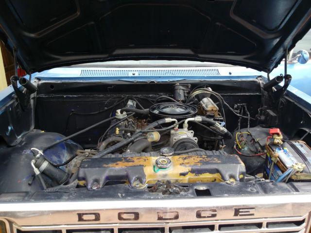 1977 Dodge Pickup D100 6 Cylinders Engine 225 For Sale