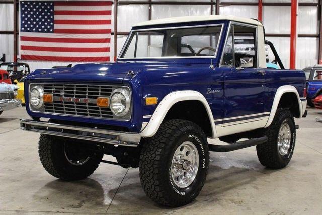 1977 ford bronco half cab 86879 miles blue suv 302 v8 automatic for sale ford bronco half cab. Black Bedroom Furniture Sets. Home Design Ideas