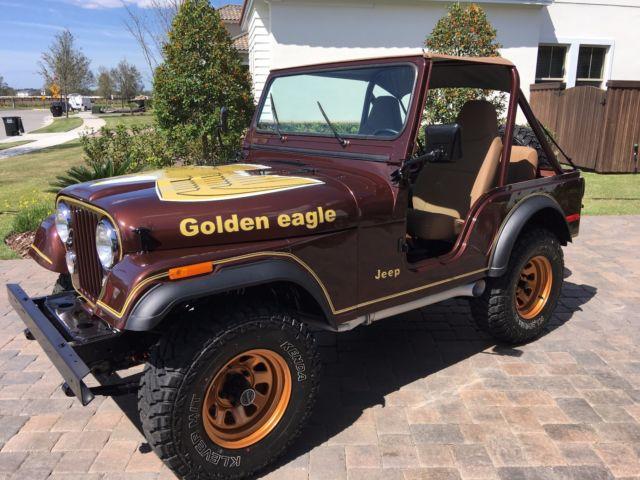 1977 jeep cj5 golden eagle 304 v8 matching for sale jeep cj cj5 1977 for sale in orlando. Black Bedroom Furniture Sets. Home Design Ideas