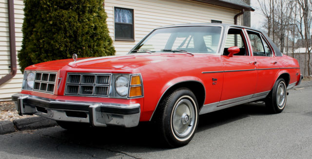 1977 Red Pontiac Ventura Sj Rust Free One Owner Red W