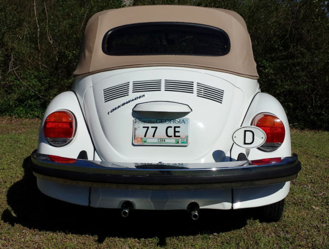 1977 Volkswagen Super Beetle Convertible Champagne Edition 1 of 1000 for sale - Volkswagen ...