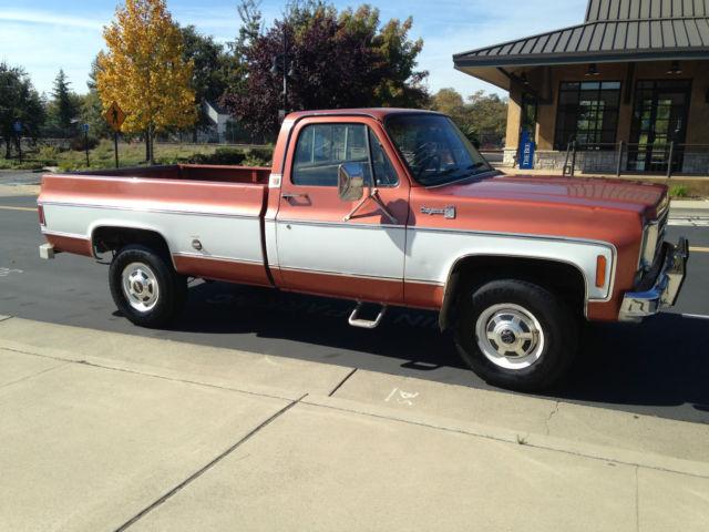 1978 chevy 3 4 ton 4x4 clean ca truck original paint for sale chevrolet c k pickup 2500. Black Bedroom Furniture Sets. Home Design Ideas
