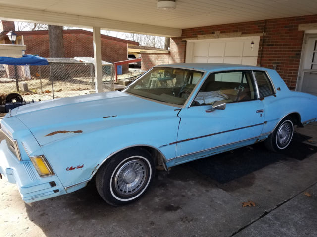 1978 chevy monte carl in fair with 305 engine and driving condition for sale chevrolet monte. Black Bedroom Furniture Sets. Home Design Ideas