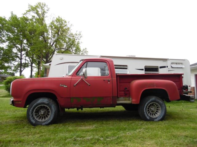 Pennsylvania Auction Cars >> 1978 DODGE POWER WAGON CUSTOM 200 4X4 LIL LITTLE RED EXPRESS TRUCK BED PROJECT for sale - Dodge ...