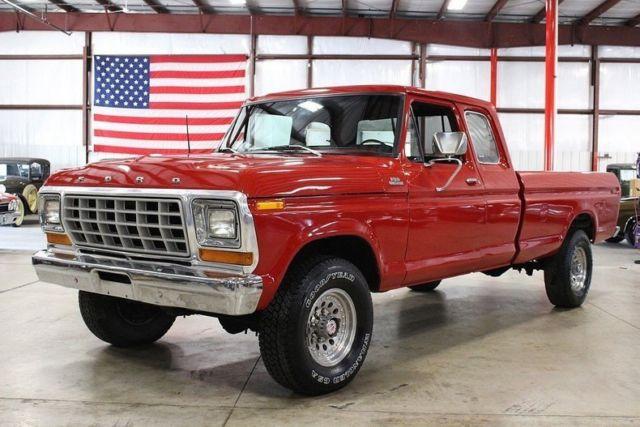 1978 ford f250 77881 miles red pickup truck 351 v8 manual for sale ford f 250 1978 for sale in. Black Bedroom Furniture Sets. Home Design Ideas