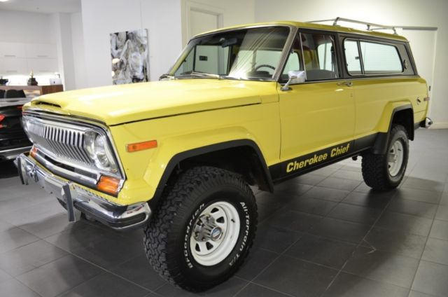 1978 jeep cherokee chief 38747 miles yellow 360 cid. Black Bedroom Furniture Sets. Home Design Ideas