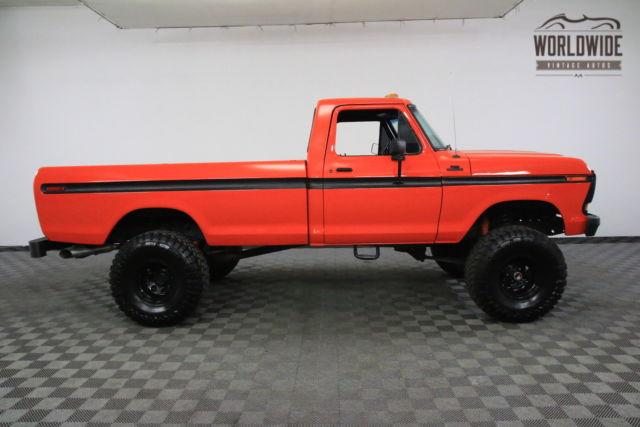 1978 orange 4x4 restored 351 v8 4 speed for sale ford f150 4x4 restored 351 v8 4 speed 1978. Black Bedroom Furniture Sets. Home Design Ideas
