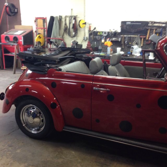 """Vw 1600 Beetle For Sale: 1978 Volkswagen Super Beetle Convertible """"LADY BUG"""" For"""