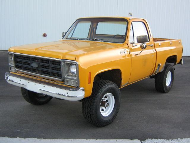 1979 79 75 76 78 chevy 4x4 pickup short bed survivor no rust original paint cali for sale. Black Bedroom Furniture Sets. Home Design Ideas