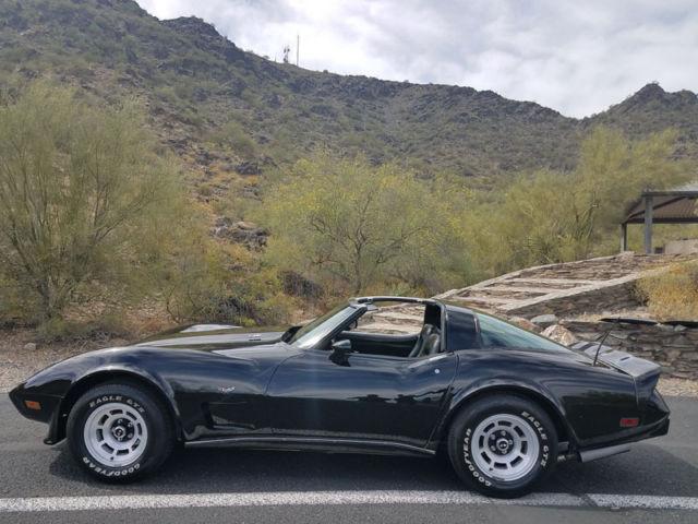 1979 chevrolet corvette l82 4 speed manual black on black original matching s for sale