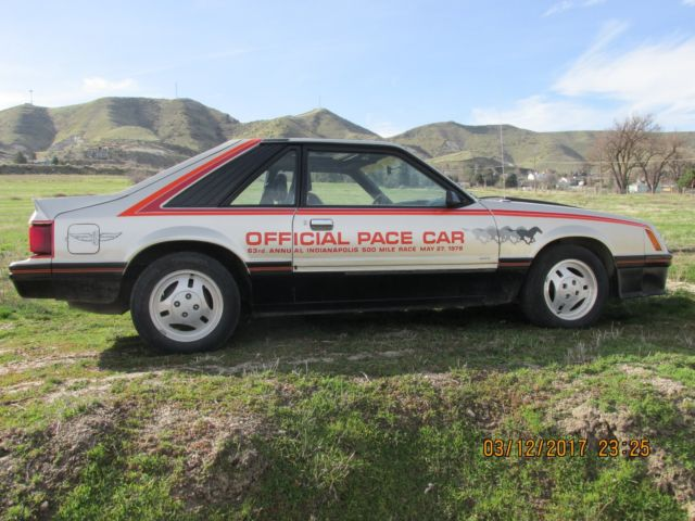 1979 ford cobra 2 4l official pace car 63rd annual indy 500 may 27 1979 for sale ford mustang. Black Bedroom Furniture Sets. Home Design Ideas