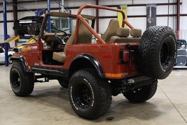 1979 jeep cj 7 renegade 60177 miles russet orange jeep inline 6 manual for sale jeep cj. Black Bedroom Furniture Sets. Home Design Ideas